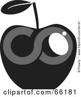 Royalty Free RF Clipart Illustration Of A Shiny Black And White Apple