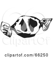 Royalty Free RF Clipart Illustration Of A Black And White Wrapped Toffee Candy