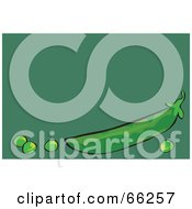 Royalty Free RF Clipart Illustration Of Peas And A Pod On Green