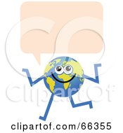 Royalty Free RF Clipart Illustration Of A Global Character With A Text Bubble by Prawny