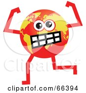 Royalty Free RF Clipart Illustration Of A Global Character Turning Red With Anger by Prawny