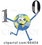 Royalty Free RF Clipart Illustration Of A Global Character Holding Binary Code by Prawny