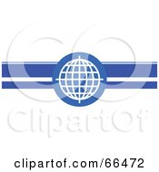 Royalty Free RF Clipart Illustration Of A Blue Wire Globe Header