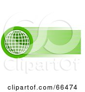 Royalty Free RF Clipart Illustration Of A Green Wire Globe Header