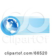 Royalty Free RF Clipart Illustration Of A Blue Globe Header With Lines
