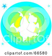 Royalty Free RF Clipart Illustration Of A Christmas Angel Over A Green And Blue Circle