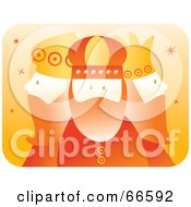 Royalty Free RF Clipart Illustration Of The Three Kings In Orange by Prawny