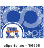 Royalty Free RF Clipart Illustration Of A Wise Men Christmas Background With Snowflakes And Stars On Blue