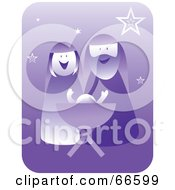 Royalty Free RF Clipart Illustration Of A Purple Nativity Scene With Stars by Prawny