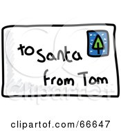 Royalty Free RF Clipart Illustration Of A Sketched Letter To Santa by Prawny