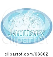 Royalty Free RF Clipart Illustration Of A Month Of January Snowflakes