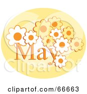 Royalty Free RF Clipart Illustration Of A Month Of May Flowers by Prawny