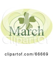 Royalty Free RF Clipart Illustration Of A Month Of March Shamrock