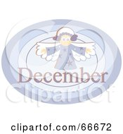 Royalty Free RF Clipart Illustration Of A Month Of December Angel by Prawny