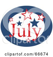 Royalty Free RF Clipart Illustration Of A Month Of July Stars by Prawny