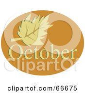 Royalty Free RF Clipart Illustration Of A Month Of October Autumn Leaf by Prawny