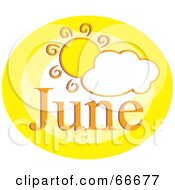 Royalty Free RF Clipart Illustration Of A Month Of June Sun by Prawny