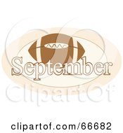 Royalty Free RF Clipart Illustration Of A Month Of September Football by Prawny