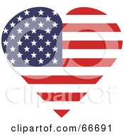 Royalty Free RF Clipart Illustration Of An American Heart