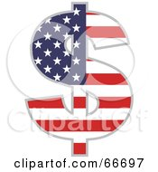 Royalty Free RF Clipart Illustration Of An American Dollar Symbol by Prawny