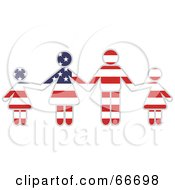 Royalty Free RF Clipart Illustration Of An American Family Holding Hands