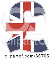 Royalty Free RF Clipart Illustration Of A Union Jack Pound Symbol by Prawny