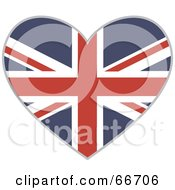 Royalty Free RF Clipart Illustration Of A Union Jack Heart