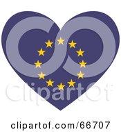 Royalty Free RF Clipart Illustration Of A European Flag Heart