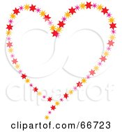 Royalty Free RF Clipart Illustration Of A Heart Made Of Colorful Stars