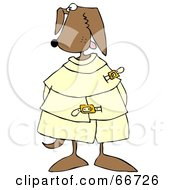 Royalty Free RF Clipart Illustration Of A Crazy Canine In A Straight Jacket