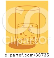 Royalty Free RF Clipart Illustration Of Fizzy Pills In A Glass Of Water by Prawny