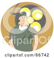 Royalty Free RF Clipart Illustration Of A Male Surgeon In Green Scrubs Standing In Front Of A Light by Prawny