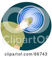 Royalty Free RF Clipart Illustration Of A Male Surgeon In Green Scrubs Standing In Front Of A Blue Light by Prawny
