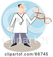 Male Doctor Holding Dna