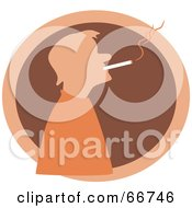 Royalty Free RF Clipart Illustration Of A Male Smoker In Profile Smoking A Cigarette by Prawny