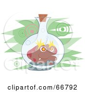Royalty Free RF Clipart Illustration Of A Germ In A Jar by Prawny
