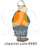 Male Construction Worker Urinating Clipart Illustration by djart