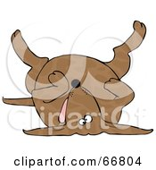 Royalty Free RF Clipart Illustration Of A Dead Brown Spotted Dog On His Back