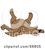 Royalty Free RF Clipart Illustration Of A Brown Spotted Dog Playing Dead