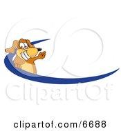 Brown Dog Mascot Cartoon Character Logo