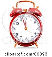 Red Shiny Alarm Clock
