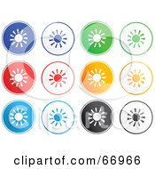 Royalty Free RF Clipart Illustration Of A Digital Collage Of Rounded Solar Buttons
