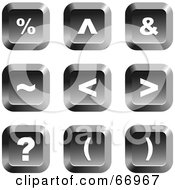 Royalty Free RF Clipart Illustration Of A Digital Collage Of Square Chrome Symbol Buttons Version 1