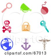 Royalty Free RF Clipart Illustration Of A Digital Collage Of Colorful Misc Icons