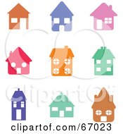 Royalty Free RF Clipart Illustration Of A Digital Collage Of Colorful House Icons