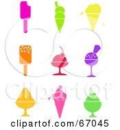 Royalty Free RF Clipart Illustration Of A Digital Collage Of Colorful Ice Cream Icons by Prawny