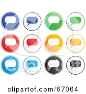Royalty Free RF Clipart Illustration Of A Digital Collage Of Colorful Chat Box Buttons