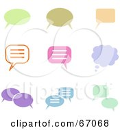 Royalty Free RF Clipart Illustration Of A Digital Collage Of Colorful Chat Box Icons