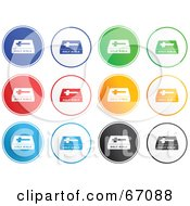 Royalty Free RF Clipart Illustration Of A Digital Collage Of Rounded Bible Buttons