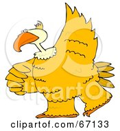 Royalty Free RF Clipart Illustration Of A Large Yellow Bird Dancing